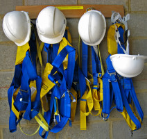 safety harness and helmets